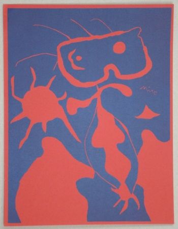 Linocut Miró - Composition pour XXe Siècle