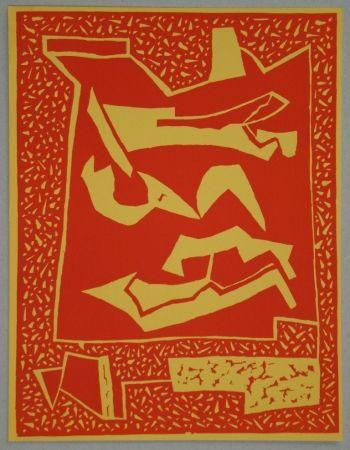 Woodcut Magnelli - Composition pour XXe Siècle