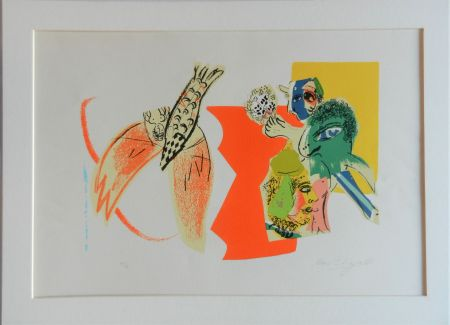 Lithograph Chagall - Composition Pour Xxe Siècle