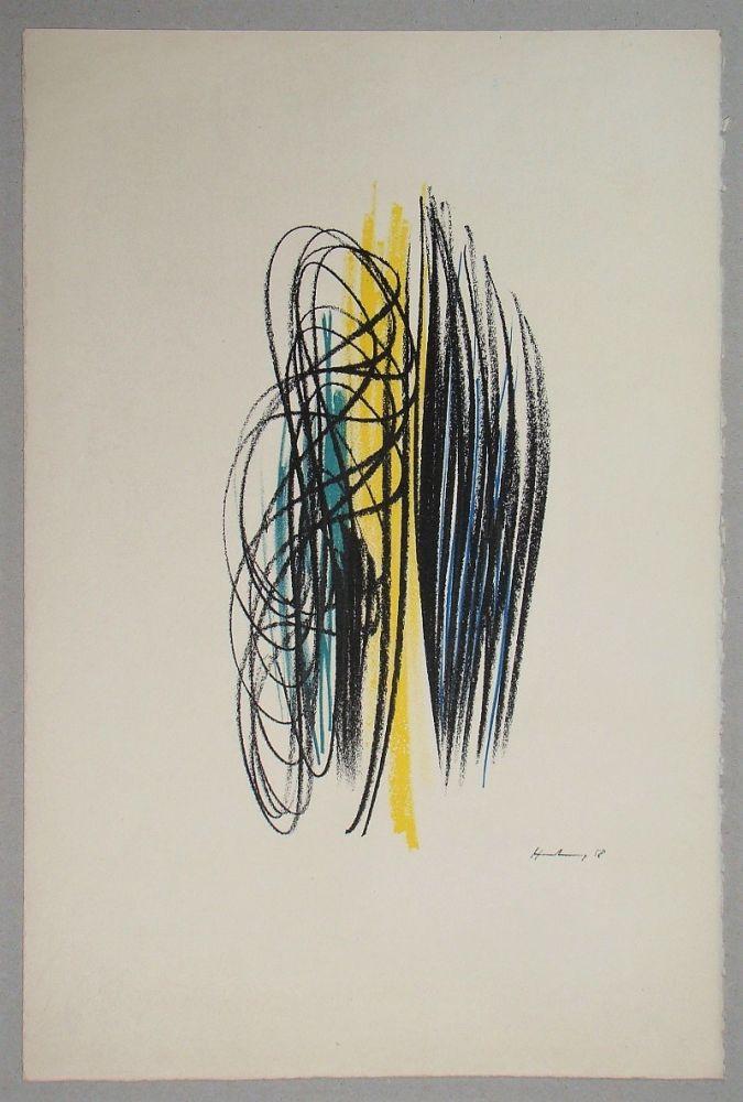 Lithograph Hartung - Composition pour XXe Siècle - 1958
