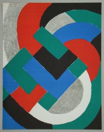 Lithograph Delaunay - Composition pour XXe Siècle, 1969