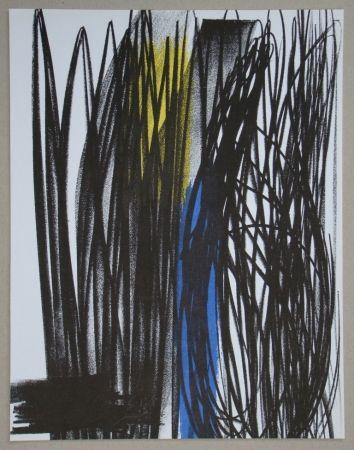 Lithograph Hartung - Composition pour XXe Siècle, 1973