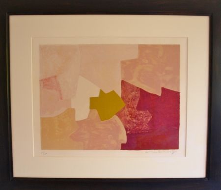 Lithograph Poliakoff - Composition rose