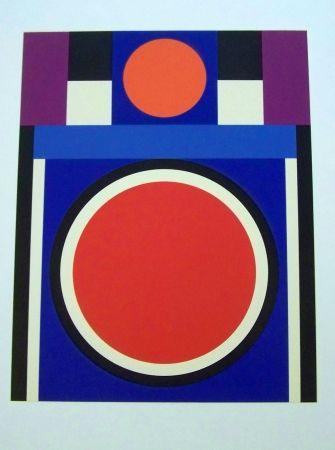 Screenprint Herbin - Composition rouge