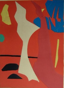 Lithograph Lanskoy - Composition rouge