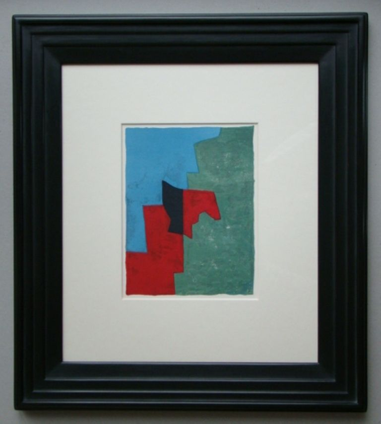 Lithograph Poliakoff - Composition rouge, verte et bleue