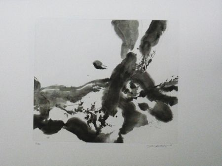 Etching And Aquatint Zao - Composition sans titre