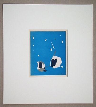 Lithograph De Stael - Composition sur fond bleu ciel