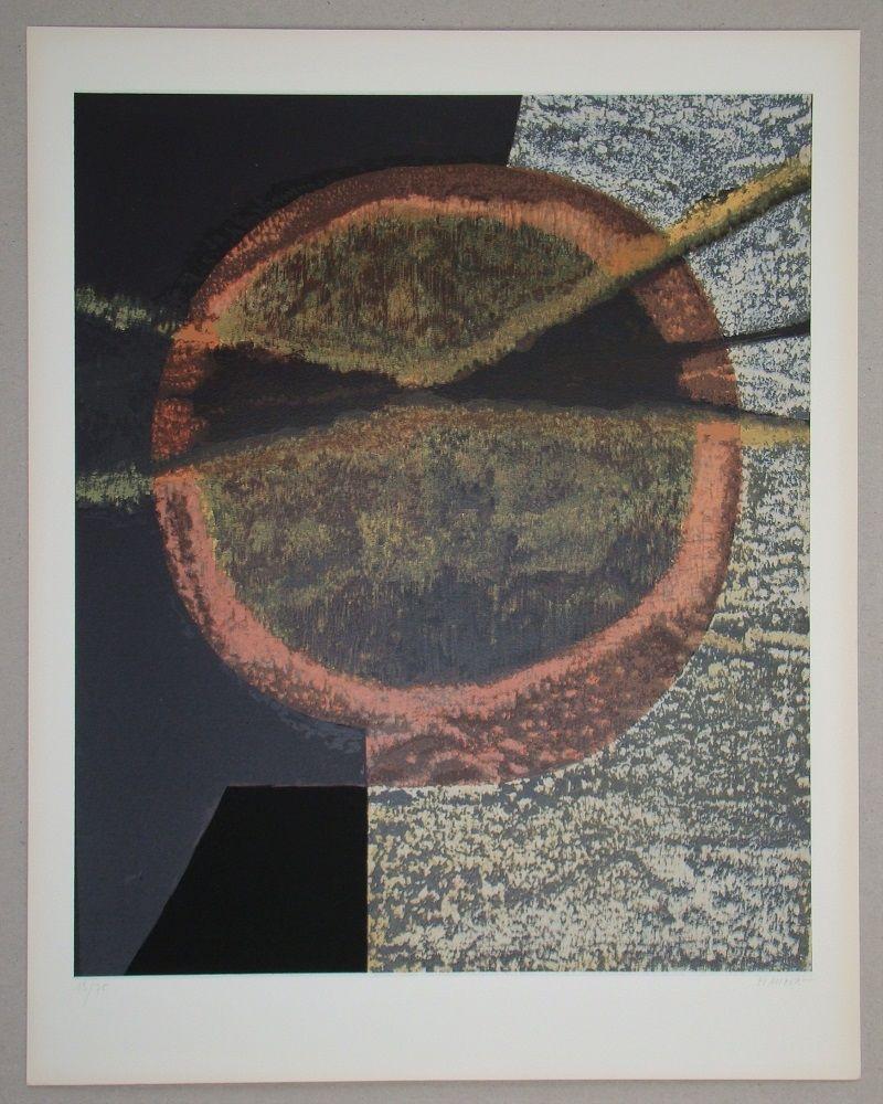 Screenprint Piaubert - Composition V.-1964