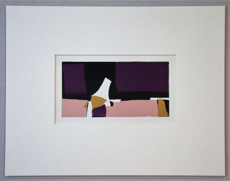 Lithograph De Stael - Composition Violette - 1952