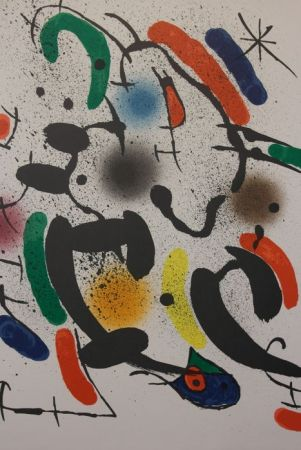 Lithograph Miró - Composition Xiii