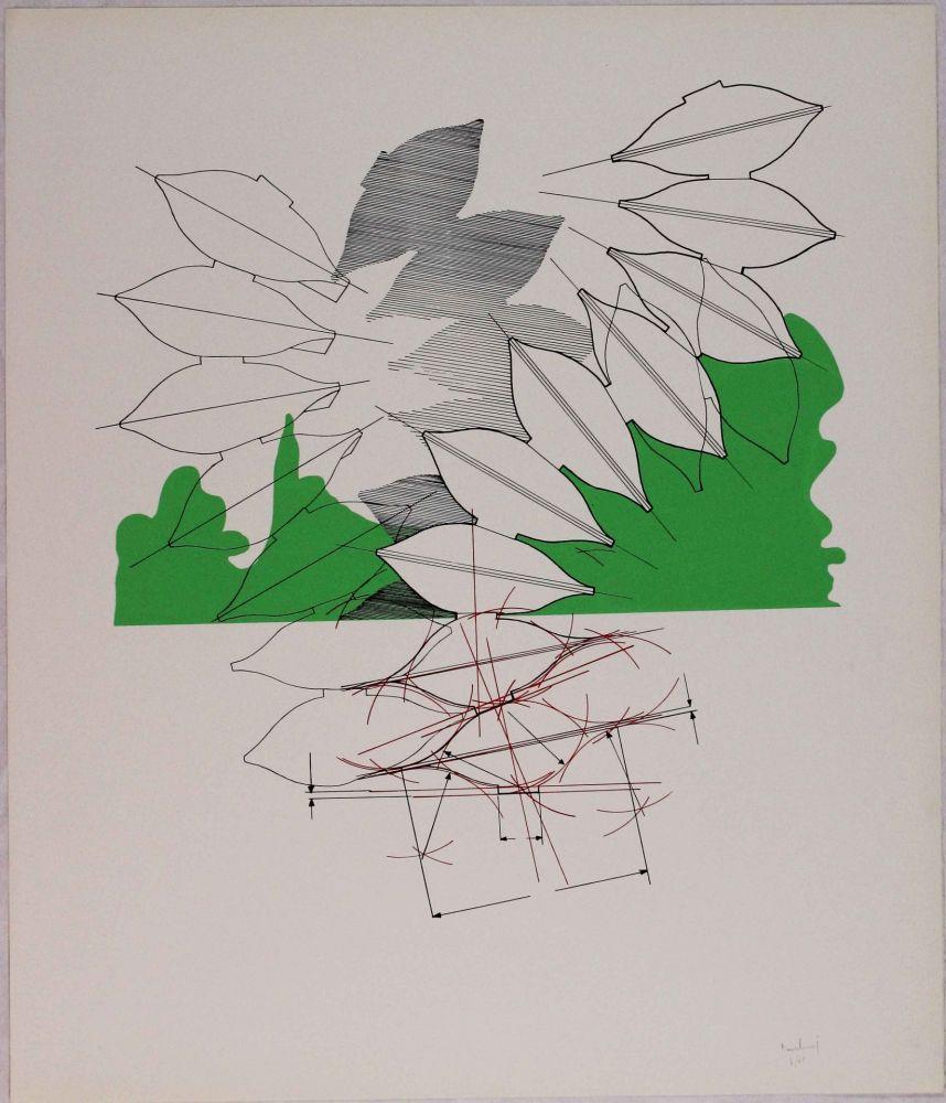 Lithograph Bonalumi - Composizione