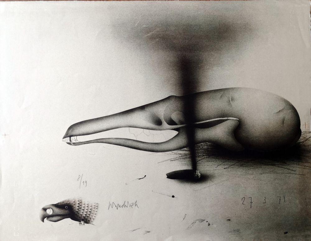 Lithograph Wunderlich - Composizione