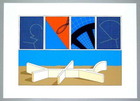 Lithograph Del Pezzo - Composizione