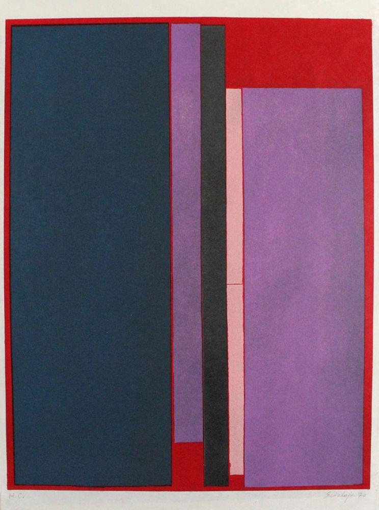 Lithograph Scialoja - Composizione a colori
