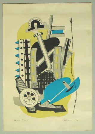 Lithograph Santomaso - Composizione (c)
