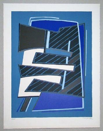 Lithograph Magnelli - Composizione in Azzuro