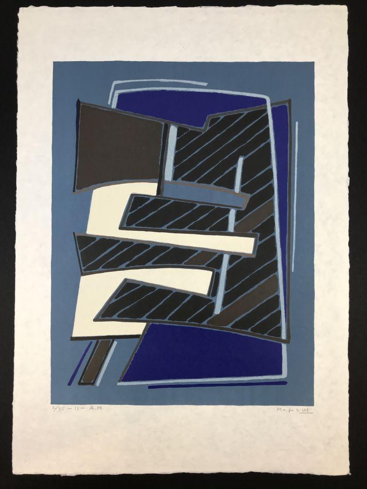 Lithograph Magnelli - Composizione in Azzurro