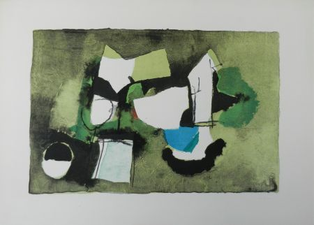 Lithograph Afro - Composizione in verde
