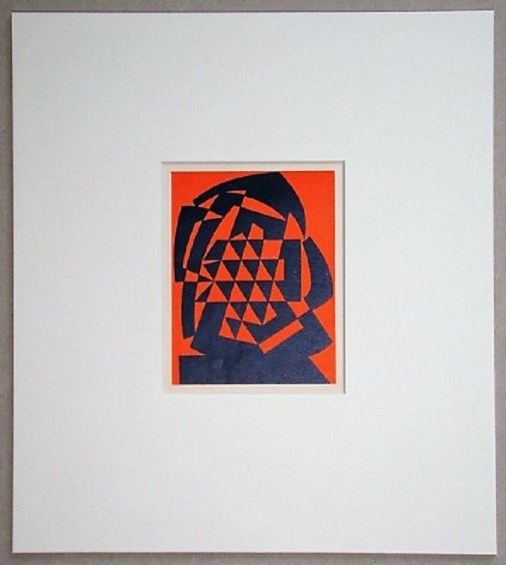 Woodcut Reggiani - Composizione non figurativo