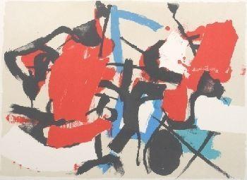 Lithograph Afro - Composizione (Per Mann)
