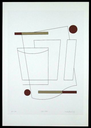 Screenprint Badiali - Composizione (tavola 3)