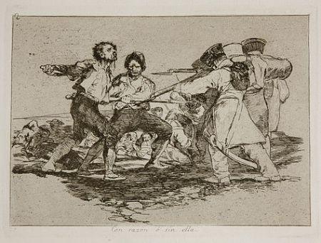 Etching Goya - Con razón o sin ella