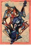 Lithograph Kahn - Concerto