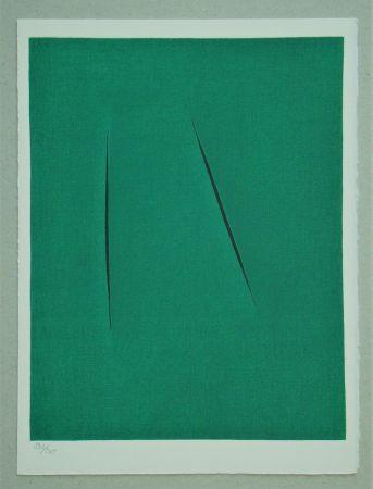 Lithograph Fontana - Concetto Spaziale