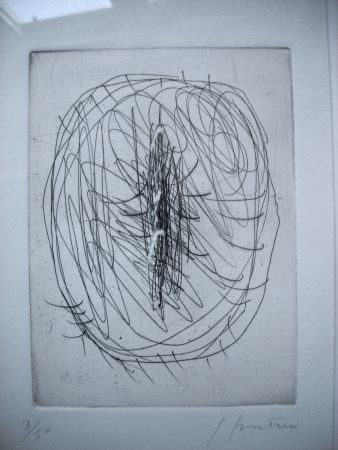 Engraving Fontana - Concetto Spaziale