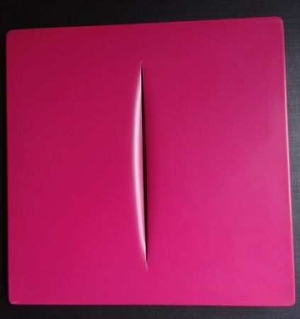 Multiple Fontana - Concetto Spaziale (Pink)