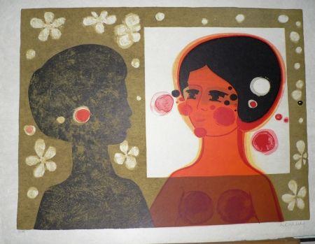 Lithograph Menguy - Confrontation