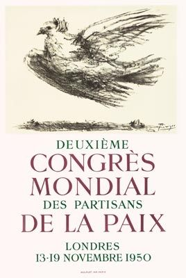 Poster Picasso - Congrès de la Paix