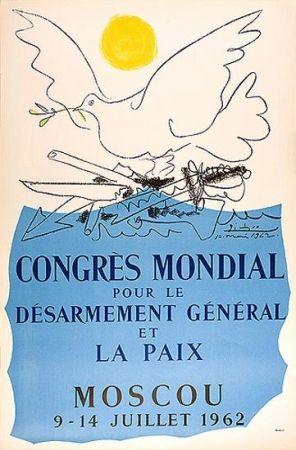 Lithograph Picasso -  Congrès Mondial pour le Désarmement et la Paix (9 et 14 juillet 1962)