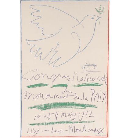 Lithograph Picasso -  Congrès National du Mouvement de la Paix (10 et 11 mai 1962)