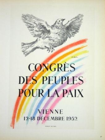 Lithograph Picasso - Congrés des Peuples pour la Paix  1952