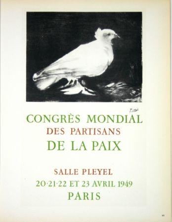 Lithograph Picasso - Congrés Mondial de la Paix  Avril 1949