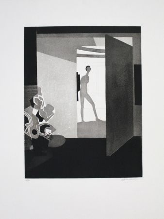 Etching And Aquatint Minaux - Contre jour
