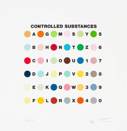 Screenprint Hirst - Controlled substances