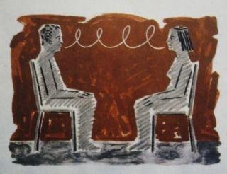 Lithograph Llimos - Conversa