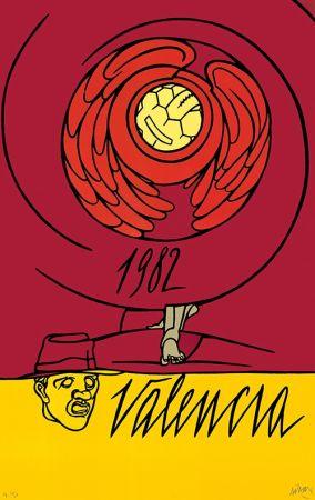 Lithograph Adami - Copa del Mundo de Fútbol España 1982 - Valencia