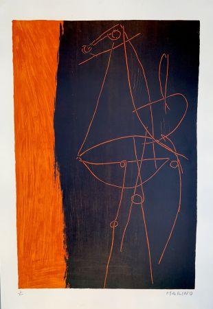 Lithograph Marini - Coposizione, 1955