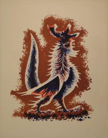 Lithograph Lurcat - Coq
