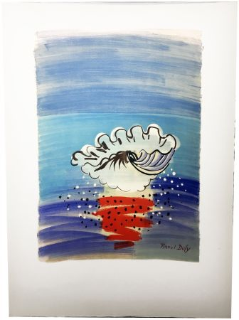Lithograph Dufy - COQUILLAGE. Hommage à Raoul Dufy (1955)