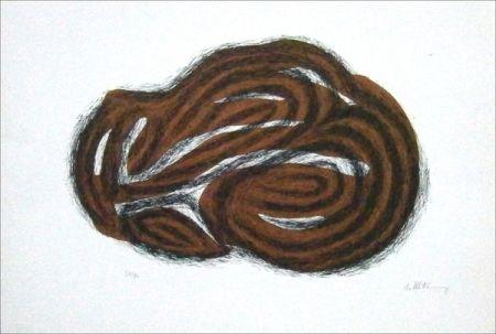 Lithograph Ubac - Corps endormi