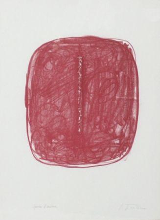 Lithograph Fontana - Corrente (Rosso)