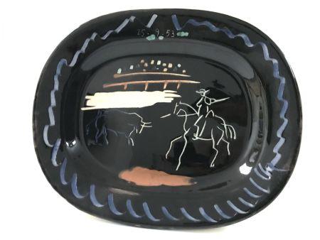 Ceramic Picasso - Corrida Sur Fond Noir