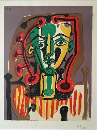 Lithograph Picasso - Corsage Raye