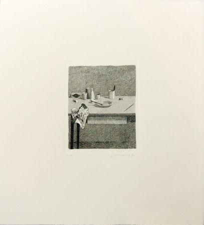 Etching Ferroni - Cose sul tavolo