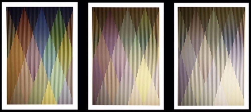 Screenprint Cruz-Diez - Couleur Additive Perseus, Portfolio of 3